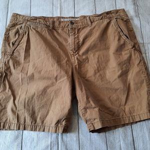 American Eagle Men's Prep Length Tan Shorts •46•